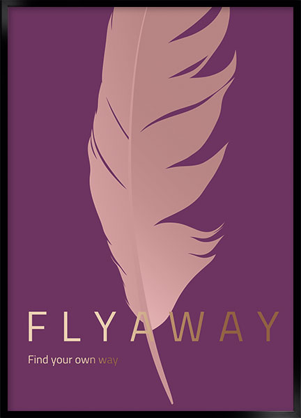 Plakat Fly away - Stil: Azure