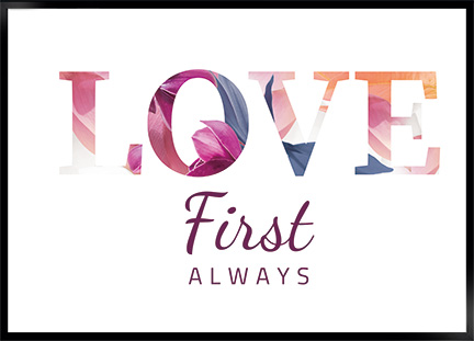 Plakat - Love first