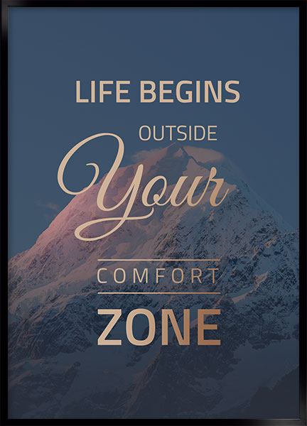 Plakat - Life begins outside