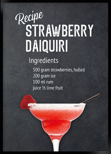 Plakat - Strawberry daiquiri