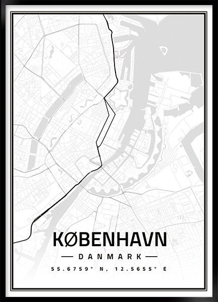 Plakat Kort Kobenhavn No2 Bykort