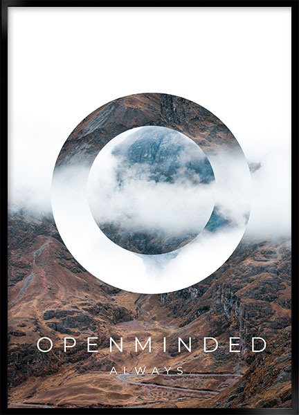 Plakat - Openminded