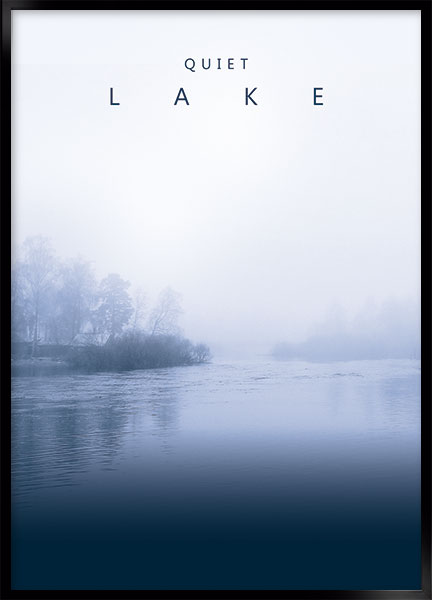 Plakat - Lake quiet