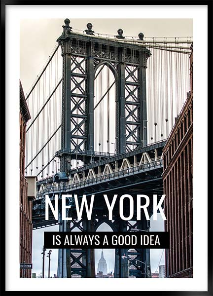 Plakat - New York a good idea