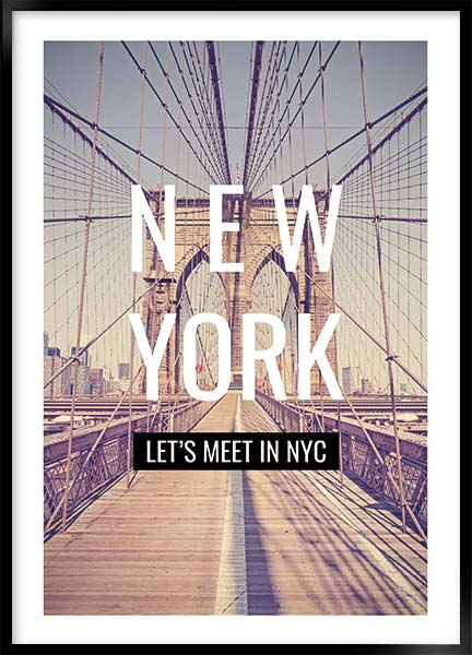 Plakat - Lets meet in NYC