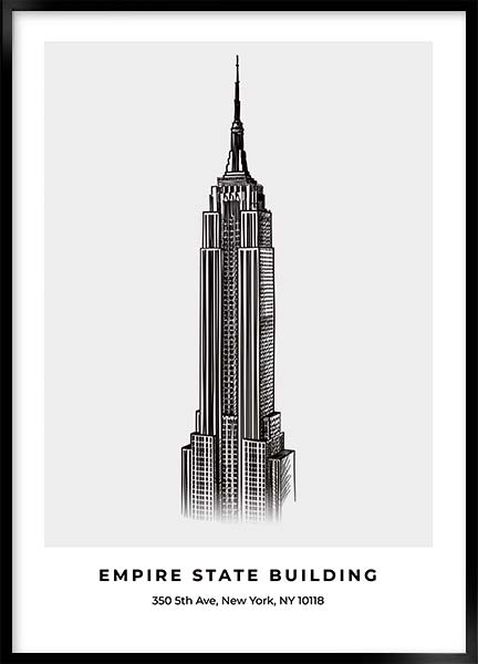 Plakat Empire state building - New York