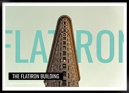 Plakat Flatiron building - New York