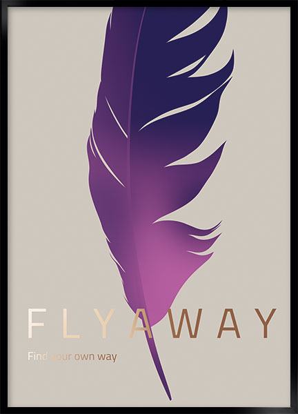Plakat - Fly away