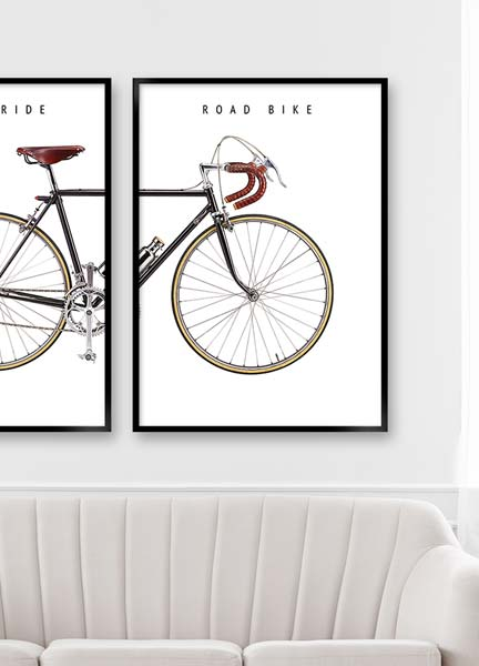 Plakat - Road bike