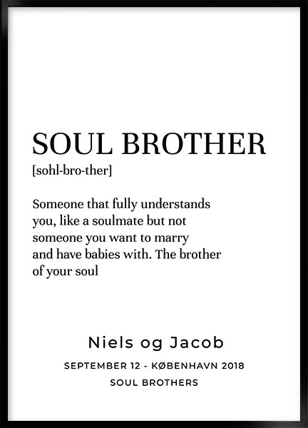 Plakat - Soul brother