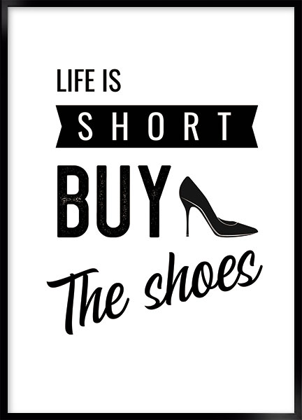 Plakat - Buy the shoes