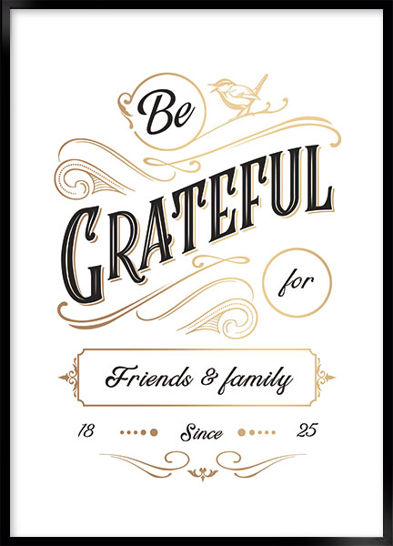 Plakat - Be grateful