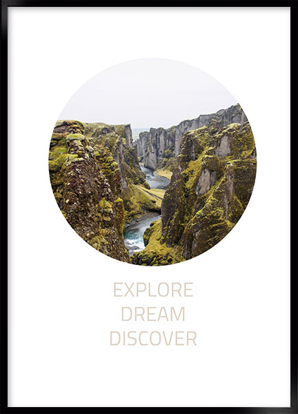 Plakat - Explore dream discover