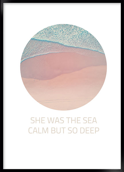 Plakat - She was the sea