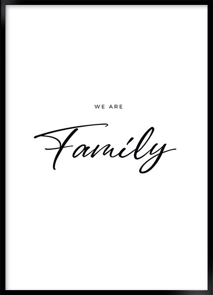 Plakat - We are family
