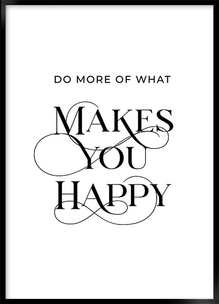 Plakat Makes you happy - Tekst plakater