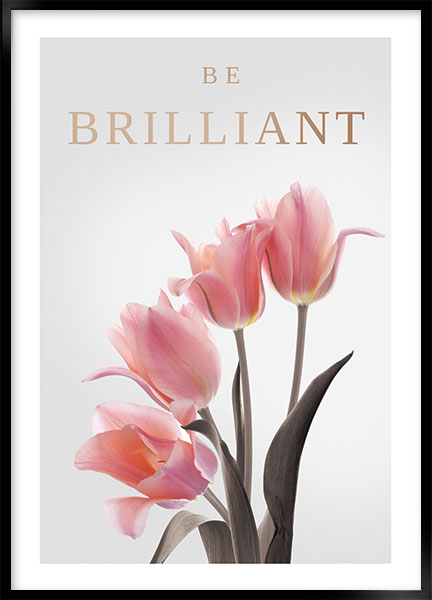 Plakat - Be brilliant