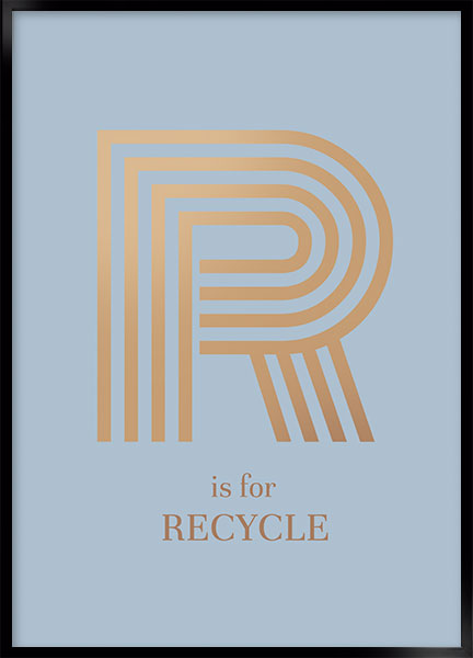Plakat - R for recycle