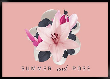 Plakat - Summer and rose
