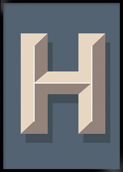 Plakat - H art deco