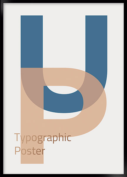 Plakat Up - Typografi